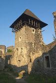 Ruïnes van xiii eeuw kasteel toren — Stockfoto