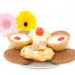 Sweets, cakes and biscuits — Stock Photo #5470375