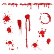 Blood splatter - vector - Stock Vector