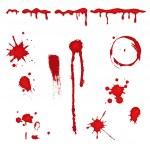 Blood splatter - vector — Stock Vector #5490058