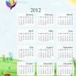 Calendar 2012 - USA version — Stock Vector