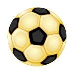 Gold soccer ball — Stock Vector