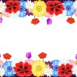Beautiful flowers borders — Stock Vector #5960670