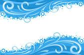 Vatten vågor gränser — Stockvektor