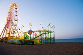 Ferris Wheel at the ocean — Stock Photo
