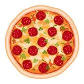 Saucisson de pizza — Vecteur