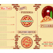 Pizzeria restaurant leaflet — Stock Vector