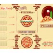 Stock Vector: Pizzerirestaurant leaflet