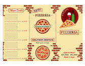 Folleto de restaurante pizzeria — Vector de stock