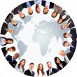 Group of around a world map — Stock Photo #5387089