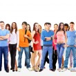 Group of on whit — Stock Photo