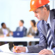 A handsome business construction man on the work site — Stock Photo #5387753
