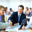 Business shaking hands, finishing up a meeting — Stockfoto #5387941