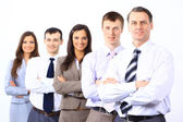 Business man and his team isolated over a white background — Stock Photo