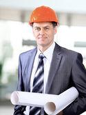 在施工现场的业务架构师 — 图库照片