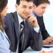 Young businessman in business meeting at office — Stock Photo #5499728