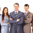 Business team and a leader - Mature business man with his colleagues in the — Stockfoto #5523730
