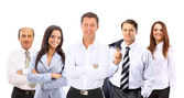 Business man and his team isolated over a white background — Stok fotoğraf
