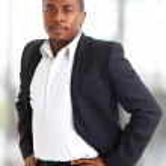 成功したアフリカ系アメリカ人の実業家のクローズ アップの肖像画 — ストック写真
