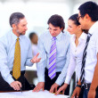 Business group at the meeting, discussion — Stock Photo #5571015