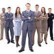 Business man and his team isolated over a white background — Stock Photo #5573912
