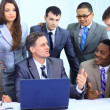 Successful business team working together at office — Stock Photo