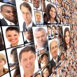 Stock Photo: Many the isolated portraits of