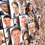 Many the isolated portraits of — Stock Photo