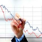Hand tekenen diagram geïsoleerd op witte achtergrond — Stockfoto