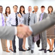 Business shaking hands — Stock Photo #5574606