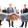 Business shaking hands — Stok fotoğraf