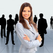 Royalty-Free Stock Photo: Portrait of successful businesswoman and business team