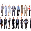 Foto Stock: Young attractive business - the elite business team