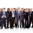 Group of business . Isolated over white background — Foto de Stock