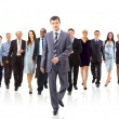 Young attractive business - the elite business team — Stockfoto