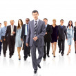 Young attractive business - the elite business team — Stock Photo #5576841