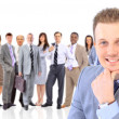 Businessman and team — Stock Photo #5576960
