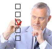 Άνθρωπος, επιλέγοντας ένα από τα πέντε επιλογές — Φωτογραφία Αρχείου