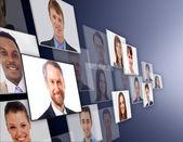 Many the isolated portraits of — Stockfoto