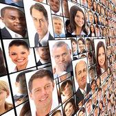 Muchos de los retratos aislados de — Foto de Stock