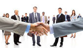 Business shaking hands — Stockfoto