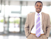 Closeup portrait of a successful African American business man — Stock Photo