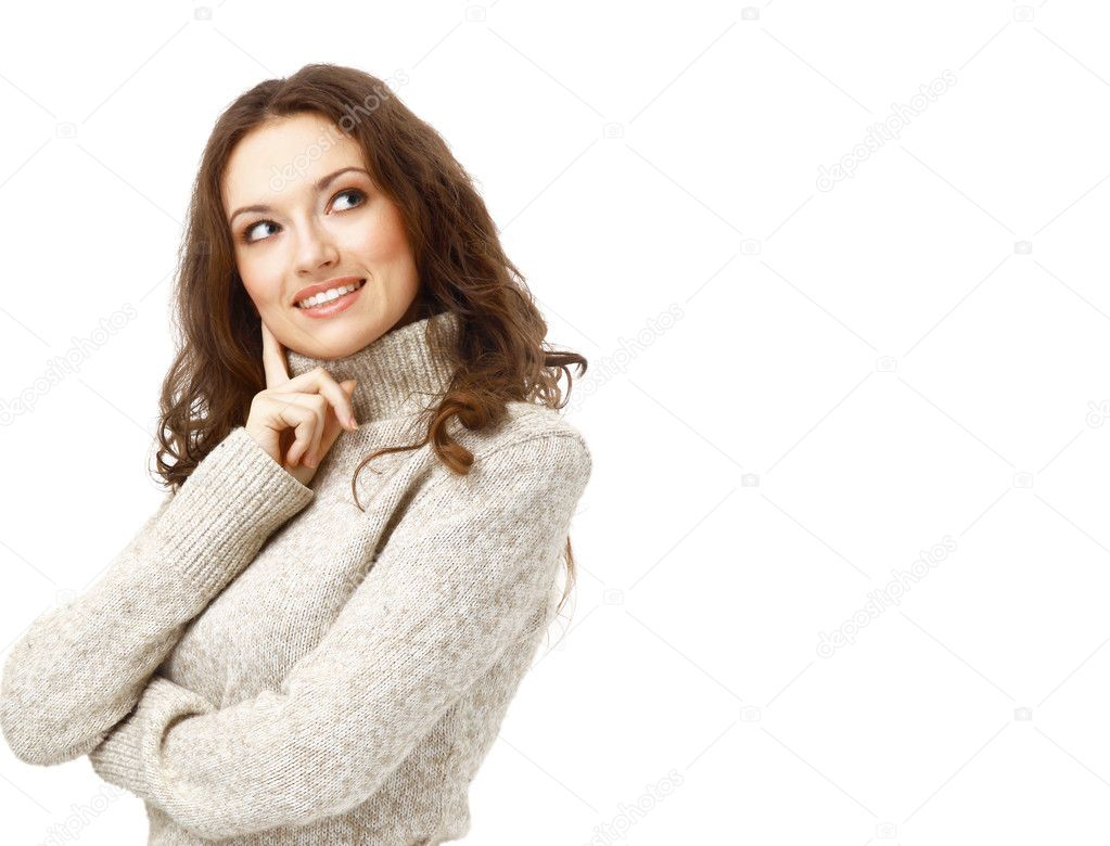 Portrait of a charming female posing over white background — Stock Photo #5571182