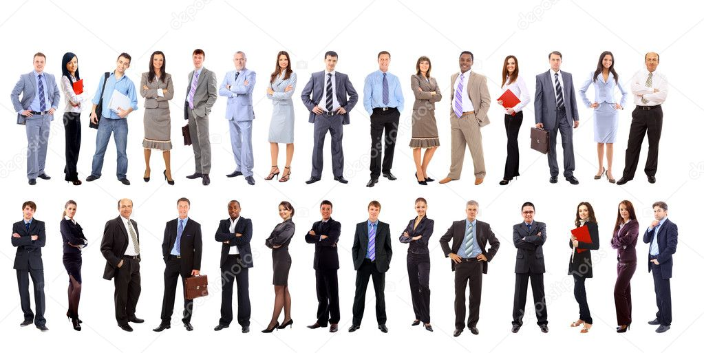 Young attractive business - the elite business team — Stock Photo #5576635