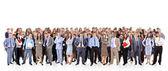 Gran grupo de negocios. aislado sobre fondo blanco — Foto de Stock