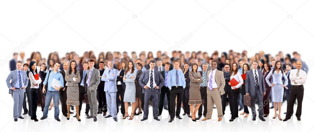Big group of business . Isolated over white background  Stock Photo #5632643