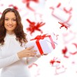 Closeup of a happy young woman surprised — Stock Photo #5658401