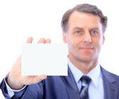 Man handing a blank — Стоковое фото