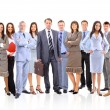 Business team formed of young businessmen standing over a white background - Foto de Stock