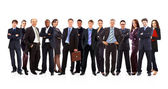 Group of business . Isolated over white background — Stock Photo